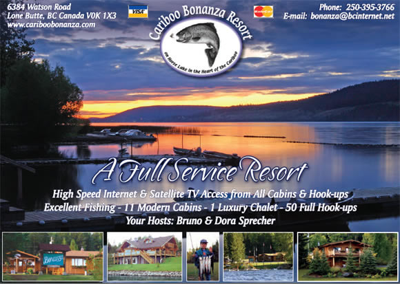 Cariboo Bonanza Resort, Your Vacation of a Lifetime!